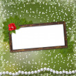Frame for photo with pearls and bunch — Stock Photo #2286636