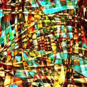 Abstract chaotic pattern with colorful translucent curved lines — Stock Photo