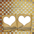 Old grunge paper frame with heart — Stock Photo #2318695