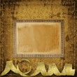 Old grunge frames on the ancient paper background — Stock Photo #24896657
