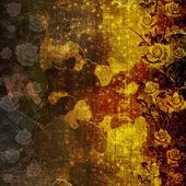 Carta grunge antico usato in stile scrapbooking con rose — Foto Stock