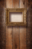 Old room, grunge interior with frames in style baroque — Zdjęcie stockowe