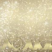 Weihnachts-Grußkarte mit präsentiert auf der grünen abstrakte bac — Stockfoto