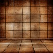 Empty old wooden room with parquet floor — Stock Photo #31831861