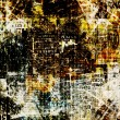 Grunge abstract newspaper background for design with old torn po — Stock Photo