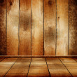 Empty old wooden room with parquet floor — Stock Photo #32067681