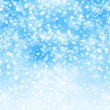 Abstract background with snowflakes, stars and blur boke — Foto de stock #33582449