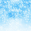 Foto de Stock  : Abstract background with snowflakes, stars and blur boke