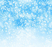 Abstract background with snowflakes, stars and blur boke — Stok fotoğraf