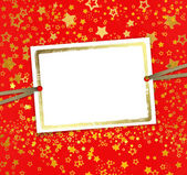Wenskaart met frame op een mooie achtergrond met gouden sta — Stockfoto