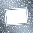 Photo: Abstract background with snowflakes, stars and blur boke