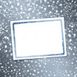 Stockfoto: Abstract background with snowflakes, stars and blur boke
