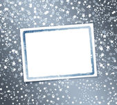 Abstract background with snowflakes, stars and blur boke — Stock Photo