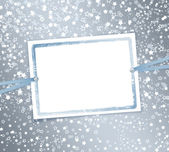 Abstract background with snowflakes, stars — Stock Photo