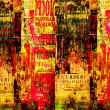 Grunge abstract background with old torn posters — Foto Stock