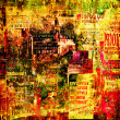 Grunge abstract background with old torn posters — 图库照片 #34294259