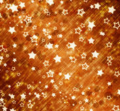 Abstract background with snowflakes, stars and blur boke — Foto Stock