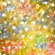 Abstract background with snowflakes, stars and blur boke — Zdjęcie stockowe