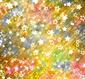 Abstract background with snowflakes, stars and blur boke — Stock fotografie