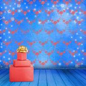 Eski odasında yay ile mevcut — Stok fotoğraf