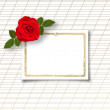 Rose with invitation card — Stock Photo #42434403