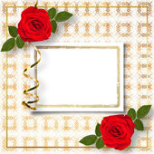 Invitation card with roses — Stock Photo