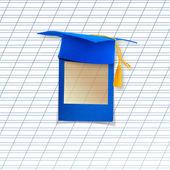 graduation mortar board template - graduation frame stock photos royalty free graduation