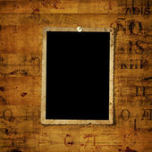 Old grunge paper frames on the ancient background — Stock Photo