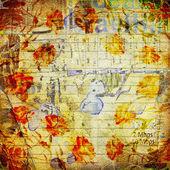 Desenfoque de fondo abstracta grunge con viejos carteles rotos con texto — Foto de Stock