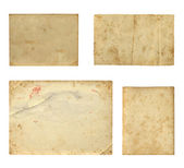 Set of  old photo paper texture isolated on white background — Foto Stock