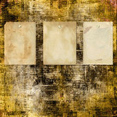 Grunge abstract newspaper background — Foto Stock