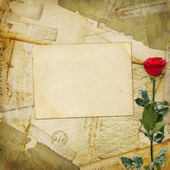 Vintage aged background, old Postcard — Stock Photo