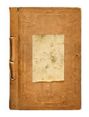 Old worn book cover with ornamental pattern — 图库照片