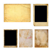 Set of  old photo paper — 图库照片