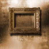 Old gilded picture frame — Stock Photo