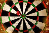 Vintage dart board — Stock Photo
