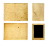 Set of  old photo paper texture — Foto Stock
