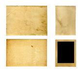 Set of  old photo paper texture — Foto de Stock