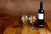 Bottle of white wine — Stock Photo