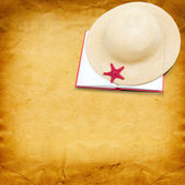 Hat with book — Stock Photo