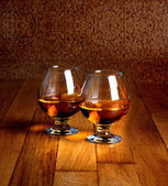 Goblets of brandy — Stock Photo