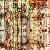 Old painted wooden fence with paint peeling  — Stok fotoğraf
