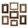 Gilded wooden frames for pictures on white isolated background  — Stock Photo #49224429