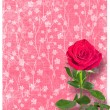 Grunge ancient used paper in scrapbooking style with roses — Stock Photo #49224589