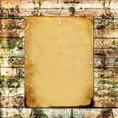 старые деревянные доски с бумажной карты — Стоковое фото