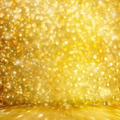 Abstract golden background with effect bokeh for design — ストック写真