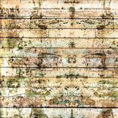 Old painted wooden fence with paint peeling  — Stock Photo