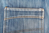 Blue jeans back pocket. Beautiful casual style — Stock Photo