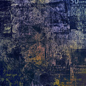 Scratch abstrakt mit blumen schöner schmuck — Stockfoto