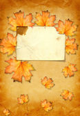 Grunge paper with photo frame — Stock Photo